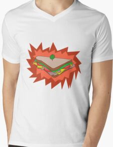 RED Sandvich Mens V-Neck T-Shirt