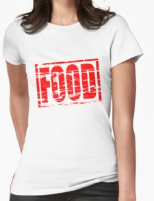 Food red rubber stam effect T-Shirt