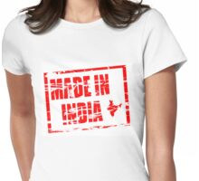 Made in India red rubber stamp effect Womens Fitted T-Shirt