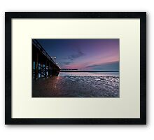 Vanishing points Framed Print