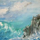 Cornish Rocks by Linda Ridpath