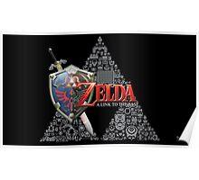 Zelda link to the past design Poster