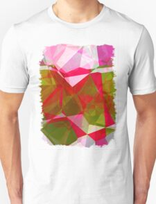Crape Myrtle Abstract Polygons 2 Unisex T-Shirt