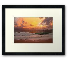 Tropical storm 2 Framed Print