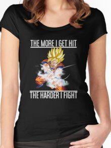 Goku Kamehameha Women's Fitted Scoop T-Shirt