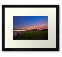 Vanishing Into Twilight Framed Print