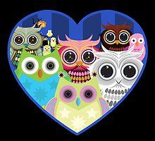 Love Owls 2 (Black) by Adamzworld