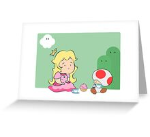 A Peachy Picnic Greeting Card