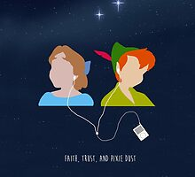 Peter Pan and Wendy iPod by ecrankin