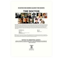 Wanted: The Doctor Art Print