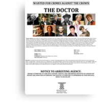 Wanted: The Doctor Canvas Print