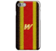 Monogram W personalized gift for him iPhone Case/Skin