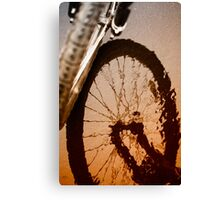 Biking Canvas Print