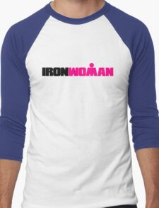 IRONWOMAN Triathlon Men's Baseball ¾ T-Shirt