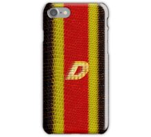 Monogram D personalized gift for him iPhone Case/Skin