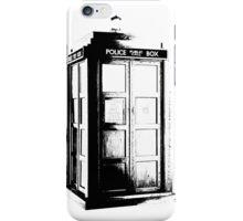 Black and White Tardis iPhone Case/Skin