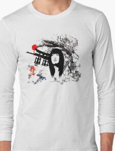 Japanese Geisha Warrior Long Sleeve T-Shirt