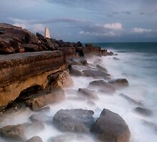 Moonlit Needle at Portland Bill by Chris Frost Photography