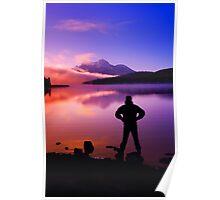 Sunset at Mountain Lake Poster
