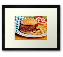 Delicious Hamburger Dinner Framed Print