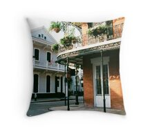 French Quarter in New Orleans Throw Pillow
