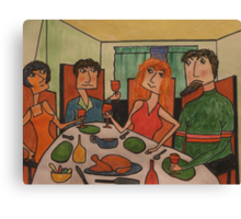 The Tense Dinner Party Canvas Print