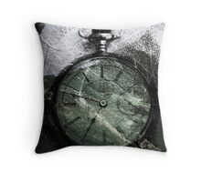 Weathered Pocketwatch Throw Pillow
