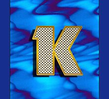 Monogram K personalized gift for him by Monartcanadian
