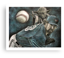 """The Force Behind The Knuckleball"" Canvas Print"