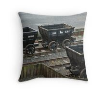 Old Railway Storage Cars Throw Pillow