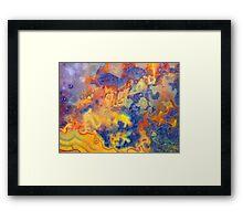 Uncertain Edges (Lace Agate) Framed Print