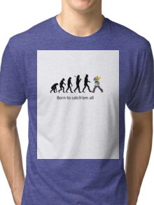 Pokemon evolution Tri-blend T-Shirt