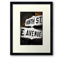 Nine is Down and E is Too Framed Print