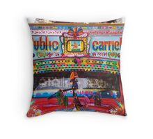 Colorful Public Bus In India Throw Pillow