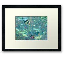 Life In A Single Drop (Jade) Framed Print