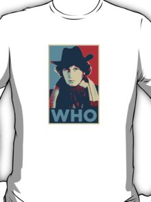 Doctor Who Tom Baker Barack Obama Hope style poster T-Shirt