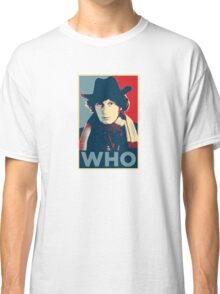 Doctor Who Tom Baker Barack Obama Hope style poster Classic T-Shirt