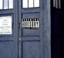 Parental advisory TARDIS Sticker