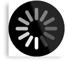 Apple Mac Loading Progress Wheel Symbol Metal Print