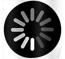 Apple Mac Loading Progress Wheel Symbol Poster