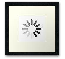 Apple Mac Loading Progress Wheel Symbol Framed Print
