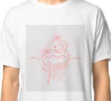 Jesus Christ Sacred Heart illustration Classic T-Shirt