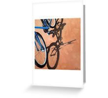 Just For One - Cycling bicycle art oil painting Greeting Card