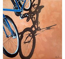 Just For One - Cycling bicycle art oil painting Photographic Print
