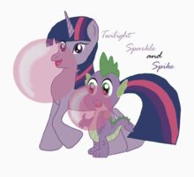 Twilight Sparkle and Spike - Bubblegum Love Baby Tee