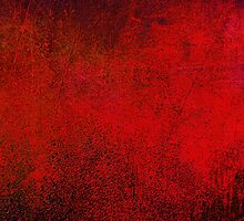 Abstract Dark Red iPad Case Crazy Colors Vintage Cool Lovely New Grunge Texture by Denis Marsili - DDTK