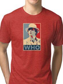 Doctor Who Peter Davison Barack Obama Hope style poster Tri-blend T-Shirt