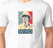 Doctor Who Peter Davison Barack Obama Hope style poster Unisex T-Shirt