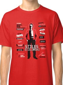 Stiles Stilinski Quotes Teen Wolf Classic T-Shirt