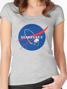 STARFLEET / NASA Women's Fitted Scoop T-Shirt